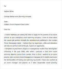 cover letter formatting sle event planner cover letter 7 free documents in pdf word