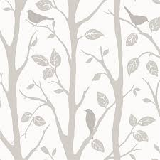fine decor wallpaper trees and birds at homebase co uk