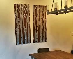 aspen tree art metal artwork home decor gift for her