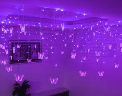 purple butterfly led lights pretty decoration for room