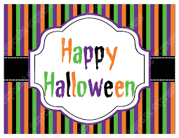 free happy halloween signs