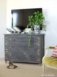 simple details anthropologie knock off diy weathered gray dresser