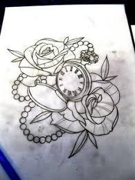 afbeeldingsresultaat voor pocket watch drawing tattoo tattoo