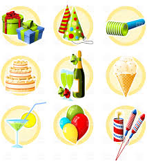 birthday martini clipart birthday and celebration icons vector clipart image 4698 u2013 rfclipart