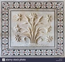 Exterior Decoration Exterior Decoration Of The Taj Mahal Agra India Stock Photo