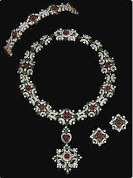 earrings necklace bracelet images Ruby emerald zircon necklace bracelet earrings gleam jewels jpg