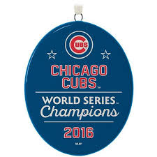 2016 2017 chicago cubs world series hallmark keepsake ornament