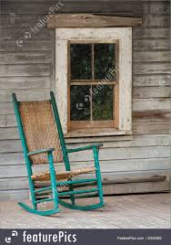 Rocking Chairs On Porch House Living Rocking Chair On Front Porch Of Old House Stock