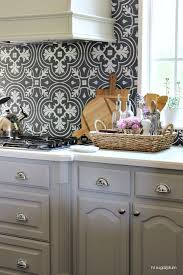 moroccan tiles kitchen backsplash silver gray cabinets gray and white moroccan tile backsplash