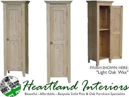 Light Oak Furniture Solid Pine Or Oak 1 Door Bathroom Hallway Storage Cabinet