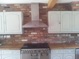 Brick Kitchen Ideas Reclaimed Brick Slips Splashbacks Pinterest Bricks Kitchens