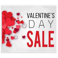 valentines sale s day sale business window retail sale sign paper blast