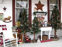 Xmas Home Decorating Ideas by Incredible Outdoor Terrace Christmas Home Decor Integrates