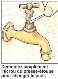 robinet cuisine qui fuit changer un joint presse étoupe