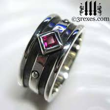 gothic ruby rings images Moorish gothic one stone ring 3 rexes jewelry jpg