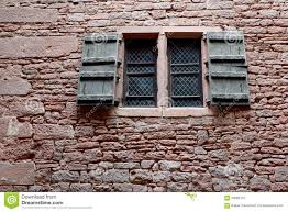 folding shutter of a castle stock photo image 56082151
