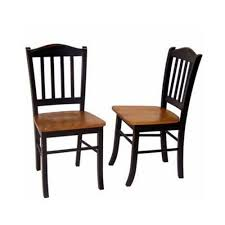 boraam black and oak shaker dining chair set of 2 30536 the
