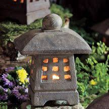 small japanese garden lantern will brighten your deck or