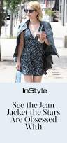 celebrities in madewell u0027s monogram denim jacket instyle com
