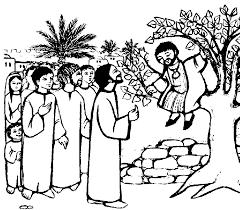 Jesus And Zacchaeus Activity Sheets Zacchaeus Coloring Page