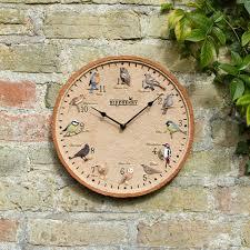 Garden Wall Clocks by Outdoor Garden Birds Clock Rspb Gifts U0026 Garden Rspb Shop