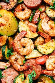 cajun shrimp and sausage vegetable skillet the recipe critic