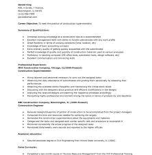 Superintendent Construction Resume Unbelievable Construction Superintendent Resume 7 Residential