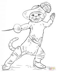 puss in boots coloring page free printable coloring pages