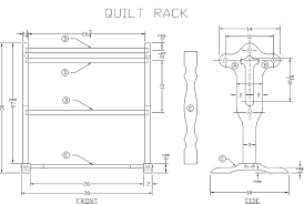 Free Woodworking Plans Build Easy by Free Quilt Rack Woodworking Plan From Lee U0027s Wood Projects