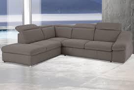 sofa kunstleder sit more ecksofa braun ottomane links mit bettfunktion fsc