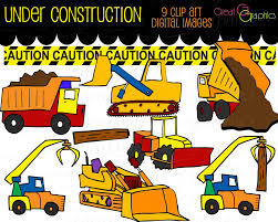 construction clipart truck clip art kids digital clip art