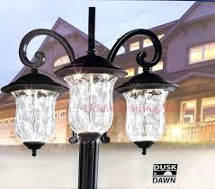 Innova Lighting Led 3 Light Outdoor L Post Led Outdoor Lighting Post Lesmurs Info