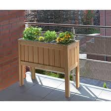 balkon hochbeet hochbeet lärche ca 100x37x80 cm mit pflanzkasteneinsatz