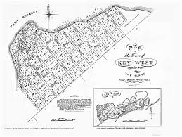 United States Map Names by Old City Map Key West Florida Landowner 1829