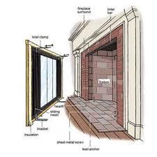 Ideas Fireplace Doors Brilliant Best 25 Glass Fireplace Doors Ideas On Pinterest For