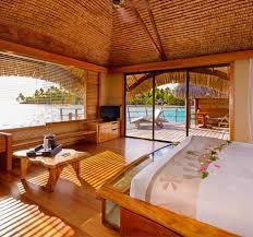chambre sur pilotis taha a island resort spa iles de la société hôtel de luxe