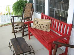 Decorate Outside Bench Christmas by Front Porch Bench With Cushion Ideas For Make Front Porch Bench