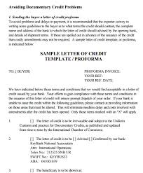 10 sample letter of credit sample letters word