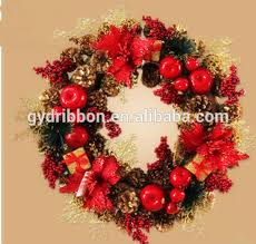 Holographic Christmas Window Decorations by Purple Fruits And Flowers Decoratived Christmas Pinecone Wreath