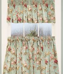 Tab Top Country Curtains Laura U0027s Garden Floral Tier Curtains These Look Very Similar To