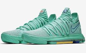 k d nike kd 10 turns turquoise for a new look city edition