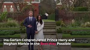 barefoot contessa show cancelled ina garten congratulated prince harry and meghan markle in the