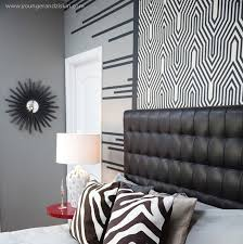 black leather tufted headboard contemporary bedroom svz