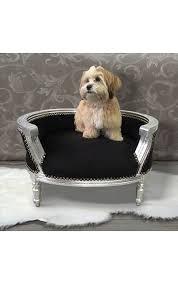 canapé lit pour chien canapé lit baroque pour chien ou velours noir et bois argent