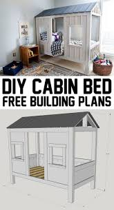 diy cabin bed diy cabin cabin and room