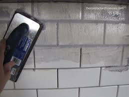 how to grout how to grout tile the contractor chronicles