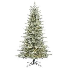 hillside slim pine 7 5 green artificial tree with 350