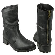 womens boots zipper back ankle boots fitting back zipper comfort shoes black