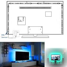 airgoo 4pcs led strip light rgb led tv backlight multi color rgb
