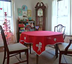 Cupid Decoration For Valentine S Day by Old Glory Cottage Valentine U0027s Day Tablecloth